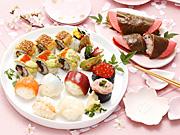 新宿小田急で「桜・お花見特集」−「一口サイズ」の手まりずし&桜スイーツ多彩に