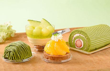 抹茶、かんきつ、メロンの季節限定ケーキ4種−「コロンバン」12店で
