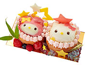 新宿小田急で七夕スイーツ限定販売−ハローキティ、マイメロディの仲良しケーキなど