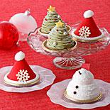 「パティスリー キハチ」Xマス−ツリー・サンタ帽子の新作スイーツ、おひとりさまケーキ