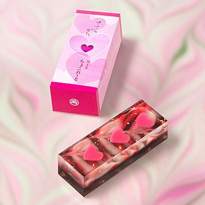 「両口屋是清」バレンタイン限定和菓子−ささらがた、干菓子、千なりの3種