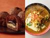 左:ロイズ「生チョコクロワッサン(オーレ)」、右:函館麺厨房 あじさい「北海道産かみこみ豚カレーラーメン」