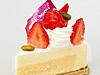 苺(いちご)のレアチーズケーキ