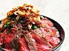 大麦牛肩ロースのジューシーステーキ丼