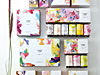 花を表現したブランドパッケージ
