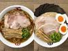 中華そば(左)、小田急限定琴平スペシャル味噌中華そば(右)