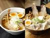 東武限定林特製味玉チャーシューplus+(左)、特製味玉ワンタン麺(右)