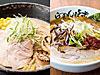 ホタテバターコーン味噌(左)、旨味玉味噌ラーメン(右)