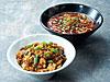 麻婆丼&辣香坦々麺ハーフ&ハーフ(杏仁豆腐付き)