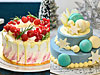 Christmas RedVelvetCake(左)、Snow Glitter Cake(右)